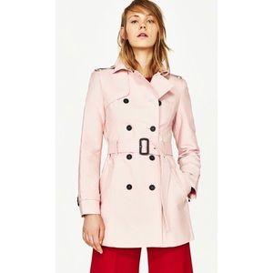 Zara Pink Trench Coat - Sz M